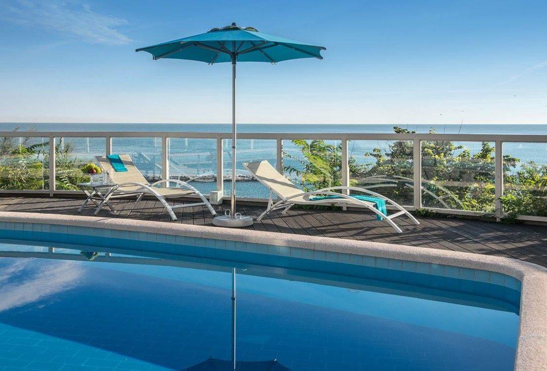 Tesitura selva lettino sunset hotel sans souci gabicce | Attrezzature per la spiaggia, ombrelloni e sdraio per spiaggia, piscina e giardino