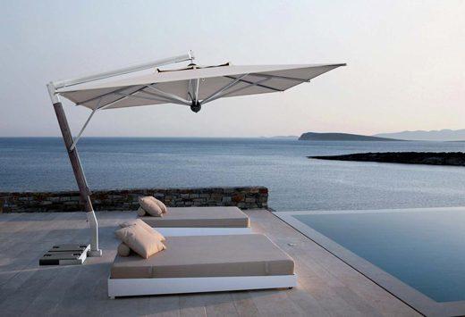 ombrellone alluminio braccio giotto - Tessitura Selva - arredi e attrezzatura da spiaggia e giardini