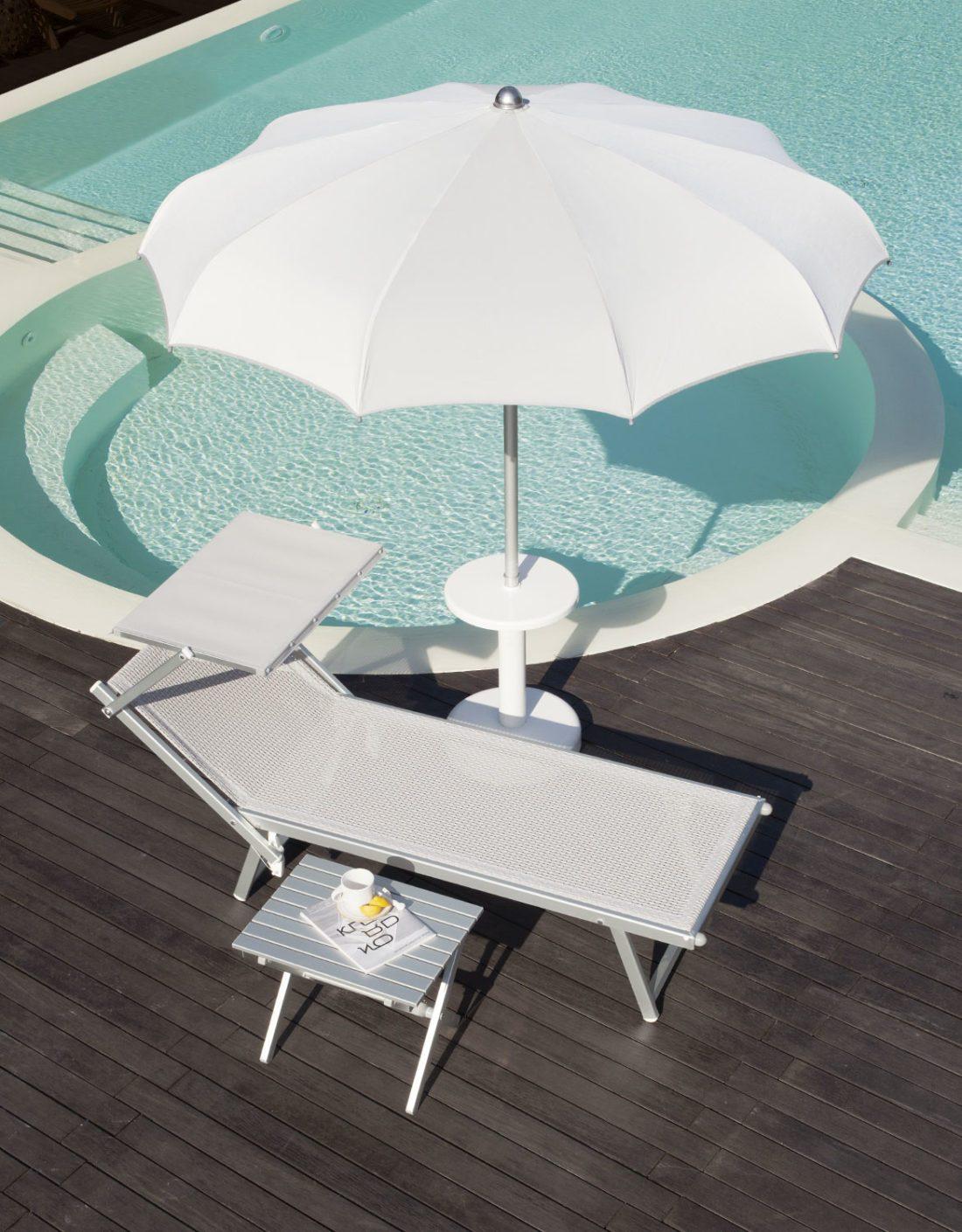 Ombrellone stecche curve - Tessitura Selva - arredi e attrezzatura da spiaggia e giardini