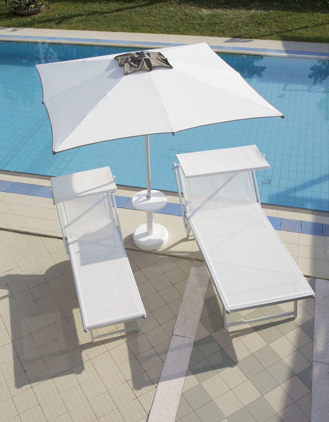 Lettino professional modello VIP - Tessitura Selva - arredi e attrezzatura da spiaggia e giardini