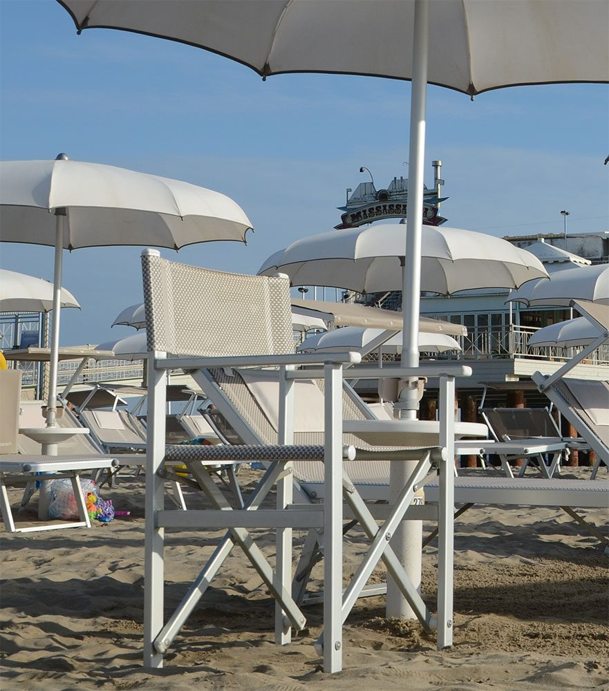 regista spiaggia - Tessitura Selva - arredi e attrezzatura da spiaggia e giardini