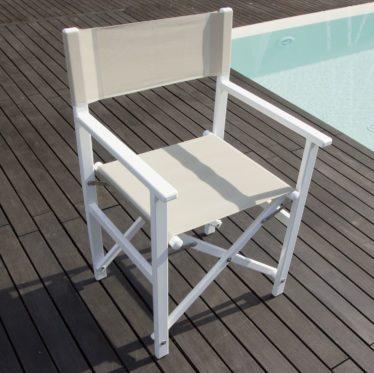 Sedia regista alluminio - Tessitura Selva - arredi e attrezzatura da spiaggia e giardini