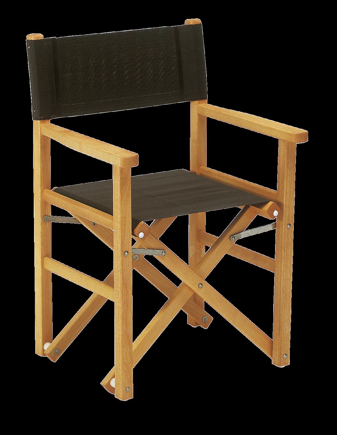 sedia regista legno - Tessitura Selva - arredi e attrezzatura da spiaggia e giardini