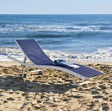 Lettino spiaggia Onda - Tessitura Selva - arredi e attrezzatura da spiaggia e giardini