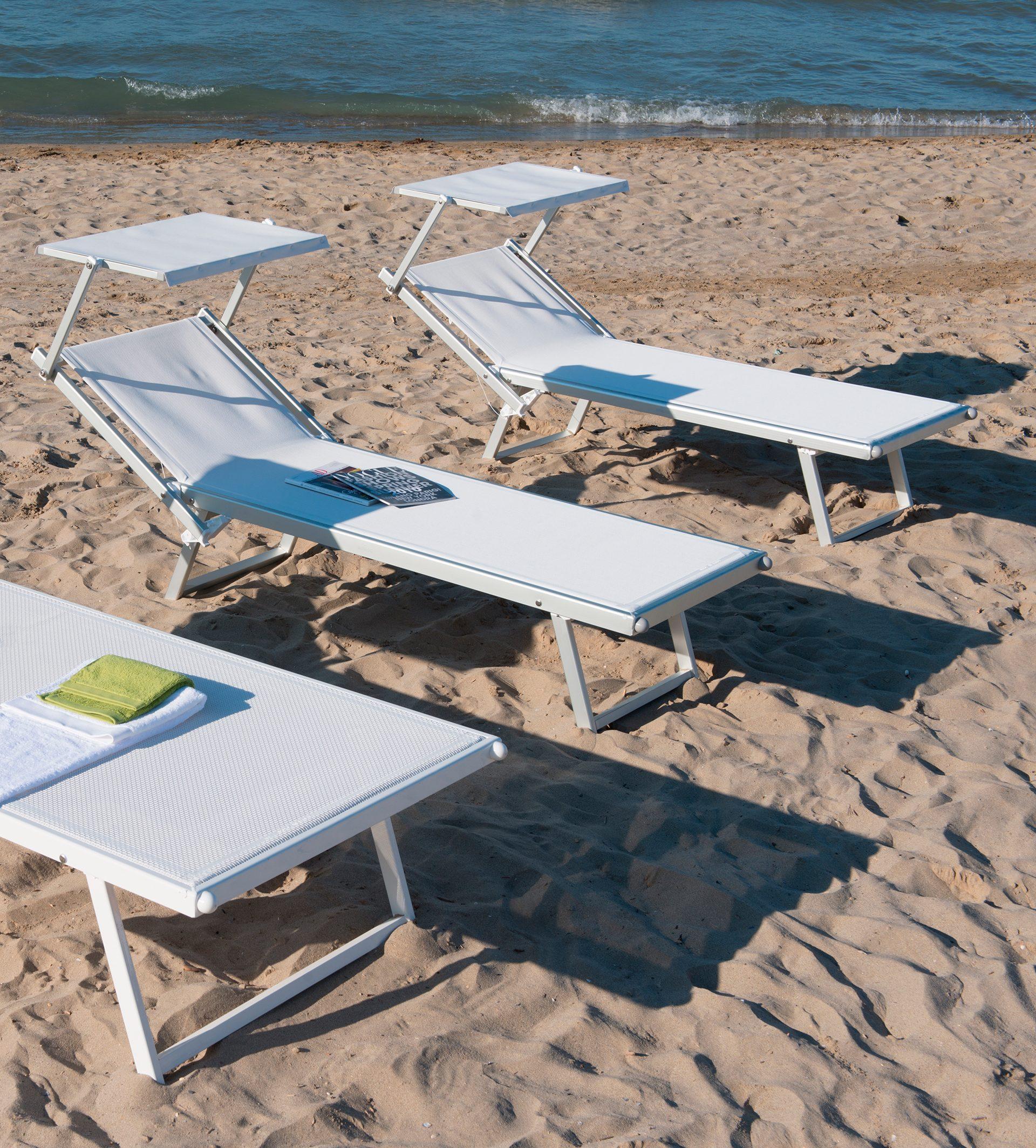 Lettini Da Spiaggia Alluminio.Lettino In Alluminio Da Spiaggia Professional