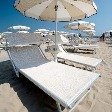 Lettino VIP da spiaggia - Tessitura Selva - arredi e attrezzatura da spiaggia, piscina e giardini
