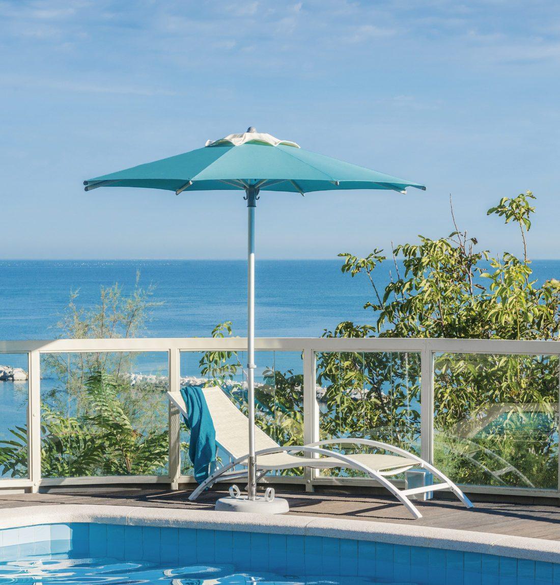 Ombrellone spiaggia Picasso quadrato - Tessitura Selva - arredi e attrezzatura da spiaggia e giardini