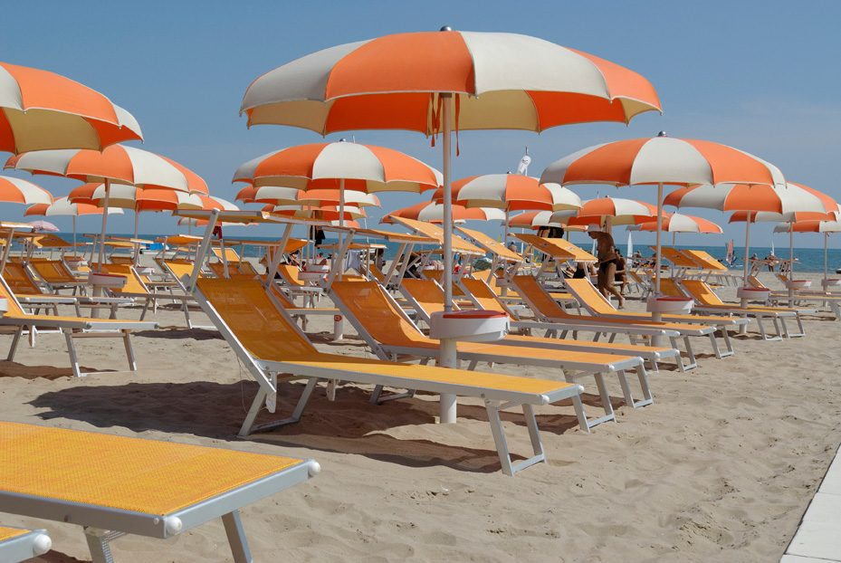 Ombrellone da spiaggia stecche curve - Tessitura Selva - arredi e attrezzatura da spiaggia, piscina e giardini