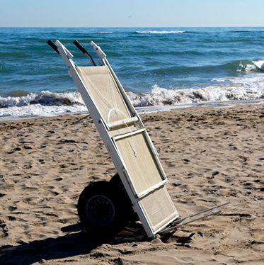 spiaggia carrello - Tessitura Selva - arredi e attrezzatura da spiaggia e giardini