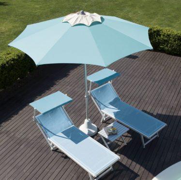 ombrellone picasso tondo giardino - Tessitura Selva - arredi e attrezzatura da spiaggia, piscina e giardini