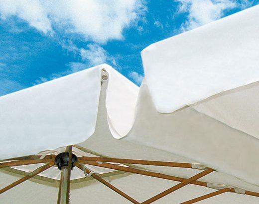 parasol double canaline - Tessitura Selva - arredi e attrezzatura da spiaggia e giardini