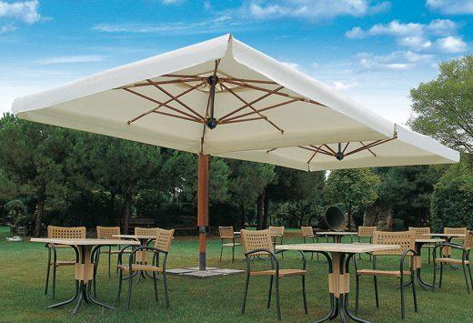 parasol double - Tessitura Selva - arredi e attrezzatura da spiaggia e giardini