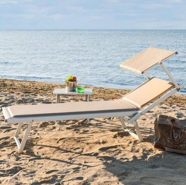 lettino imbottito mare - Tessitura Selva - arredi e attrezzatura da spiaggia e giardini